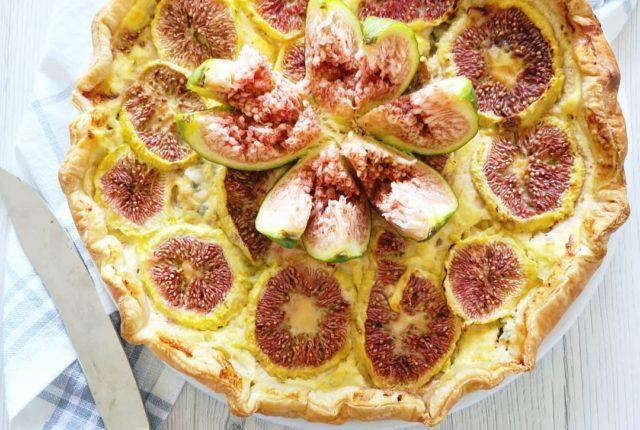 La ricetta della torta salata con fichi e gorgonzola
