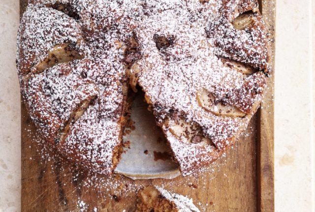 Torta alle pere e cioccolato di Una Cucina a Pois
